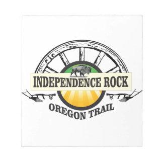 De rotsverbinding van de onafhankelijkheid notitieblok