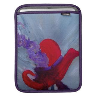 de rougesleeve van ensemblechapeau iPad beschermhoes