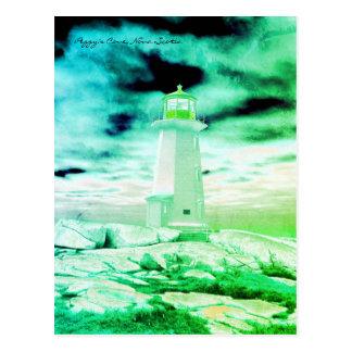 De Route groen Nova Scotia van de Vuurtoren van de Briefkaart