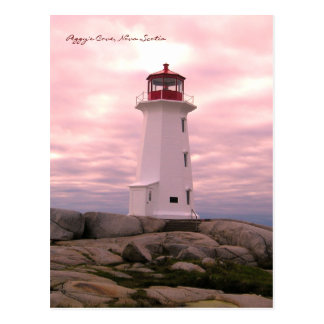 De Route Nova Scotia van de Vuurtoren van de Inham Briefkaart