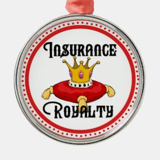 De Royalty van de verzekering Zilverkleurig Rond Ornament