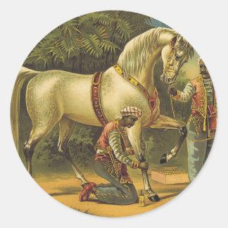De Royalty van het Paard van het T-SHIRT Ronde Sticker