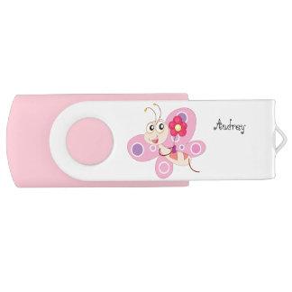 De roze Aandrijving van de Flits van de Wartel van Swivel USB 2.0 Stick