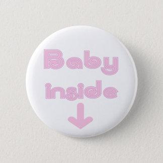 De roze Aangepaste Binnenkant van het Baby - Ronde Button 5,7 Cm