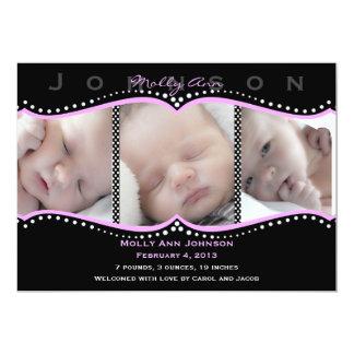 De roze Aankondiging van de Geboorte van de Foto