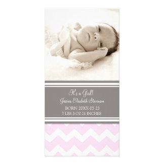 De roze Aankondiging van de Geboorte van het Baby  Foto Kaart