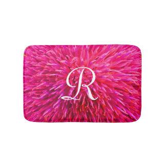 De roze Abstracte Badmat Met monogram van de
