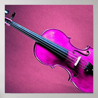 De Roze Achtergrond van het Poster van de viool of