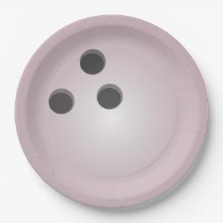 De roze Bal van het Kegelen Papieren Bordje