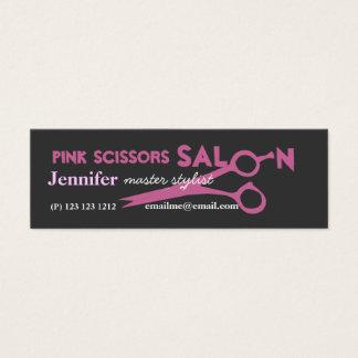 De roze Benoeming van de Salon van de Schaar Mini Visitekaartjes