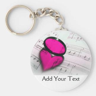 De roze Bezinning van het Hart over de Muziek van Sleutelhanger