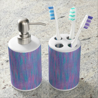 De roze & Blauwe Bijkomende Reeks van het Bad van Tandenborstelhouder