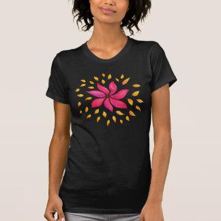 De Roze Bloem van de abstracte Capricieuze T Shirt