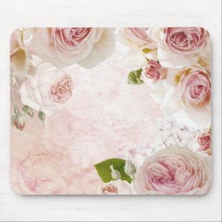 De roze Bloem van de Lente nam de Collage van de Muismat