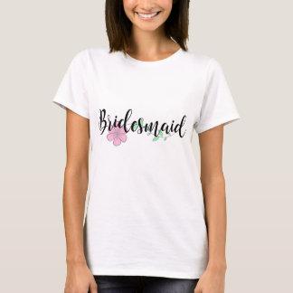 De Roze Bloem van het bruidsmeisje T Shirt