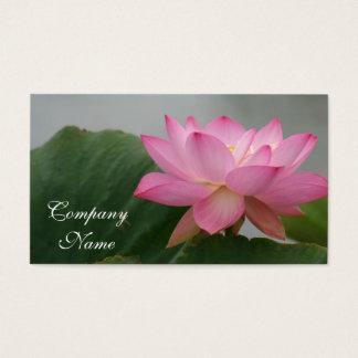 De roze bloem van Lotus Visitekaartjes