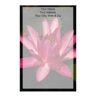 De roze Bloem van Lotus Waterlily Briefpapier