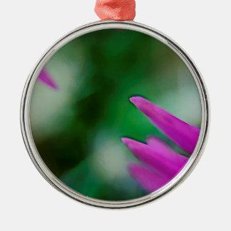 De roze Bloemblaadjes van de Cactus Zilverkleurig Rond Ornament