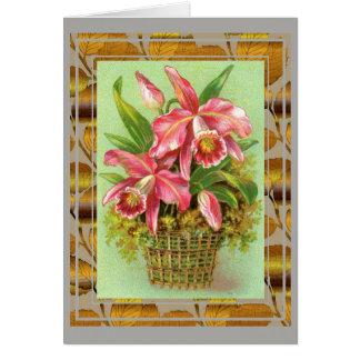 De roze Bloemen van de Orchidee Kaart