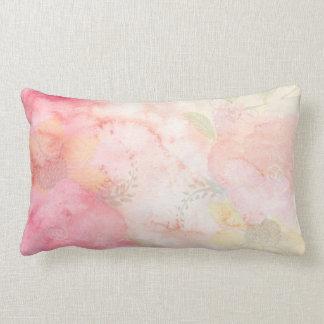 De Roze BloemenAchtergrond van de waterverf Lumbar Kussen