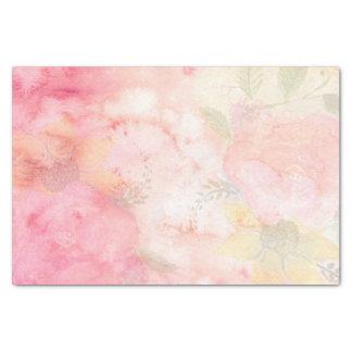 De Roze BloemenAchtergrond van de waterverf Tissuepapier