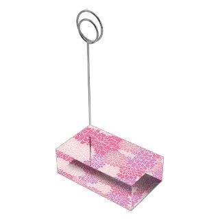De roze BloemenHouder van de Kaart van de Lijst Tafelkaart Houder