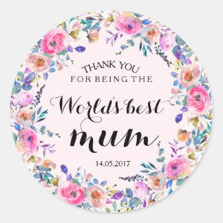 De roze BloemenSticker van het Huwelijk van de Ronde Sticker