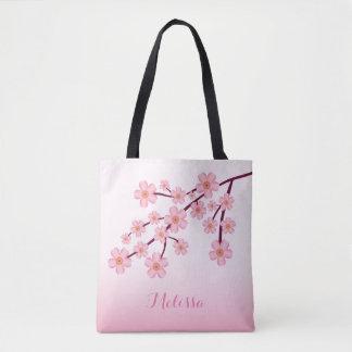 De roze BloemenTak van Sakura van de Bloesem van Draagtas