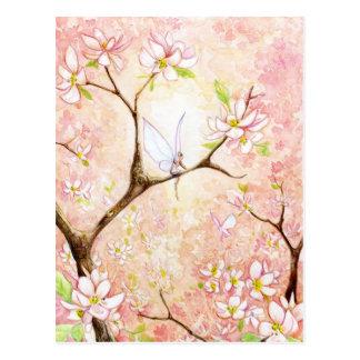De roze Bloesem van het Uitzicht Briefkaart