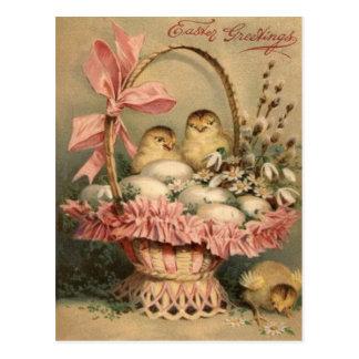 De Roze Boog van het Kuiken van het Ei van de Mand Briefkaart