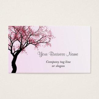 De roze Boom van de Bloesem van de Bloem Visitekaartjes
