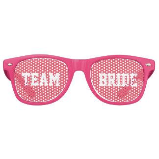 De roze Bruid van het Team van het Bruidsmeisje Retro Zonnebril