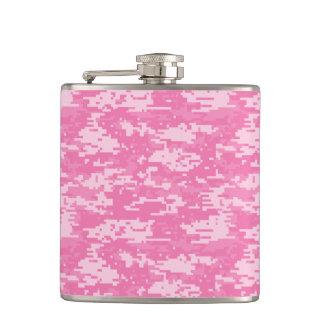 De Roze Camouflage van Camo van Girly Heupfles