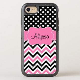 De roze Chevron van de Punt OtterBox Symmetry iPhone 7 Hoesje