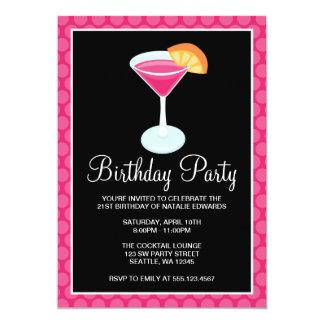 De roze Cocktail van de Stip drink de 21ste Partij Kaart