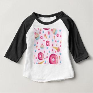 De roze Collage van de Doughnut Baby T Shirts