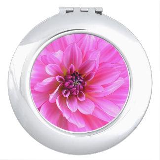 De roze Compacte Spiegel van de Kromme Make-up Spiegeltje