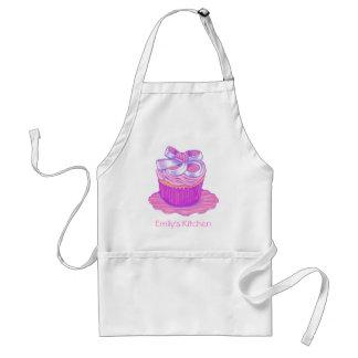 De roze Cupcake Schort ~ past met naam aan