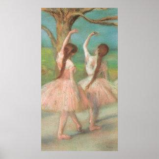 De Roze Danser van Edgar Degas Poster