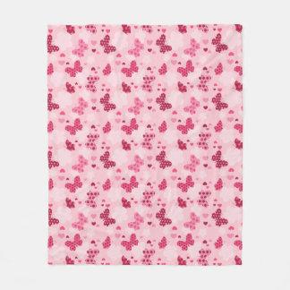 De roze deken van de Vacht van het vlinderpatroon