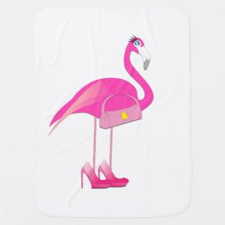De roze Deken van het Baby van de Flamingo Inbakerdoek