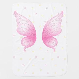 De roze Deken van het Baby van de Vleugels van de Inbakerdoek
