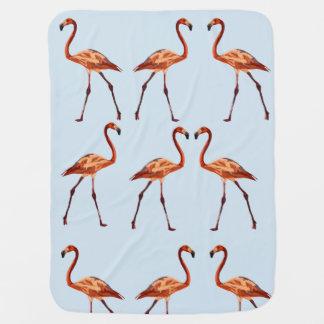 De roze Deken van het Baby van Flamingo's Inbakerdoek
