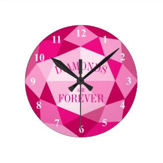 De roze diamanten zijn voor altijd de klok van de