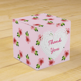 De roze Doos van Cupcake van Bloemen Bedankdoosjes