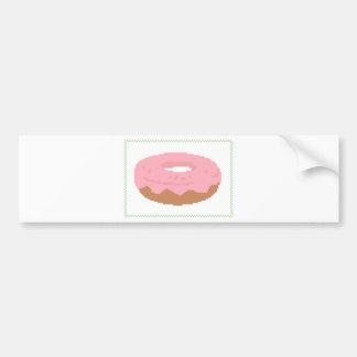 De roze Doughnut met bestrooit Bumpersticker