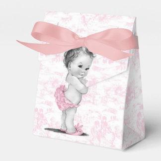 De roze Dozen van de Gunst van het Baby shower Bedankdoosjes