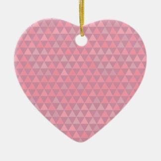 De Roze Driehoeken van Mauvelous Keramisch Hart Ornament