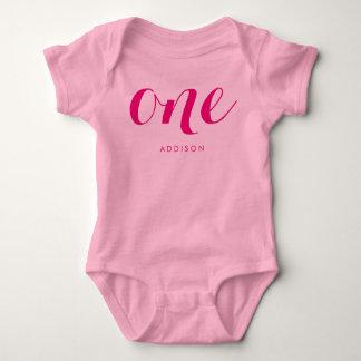 De roze Eerste Overhemden van de Verjaardag voor Romper