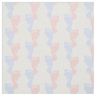 De Roze en Blauwe Voetafdrukken van het baby Stof